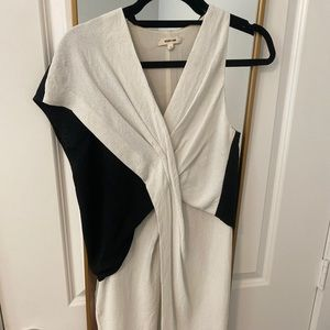 Helmut Lang white and black dress size 2